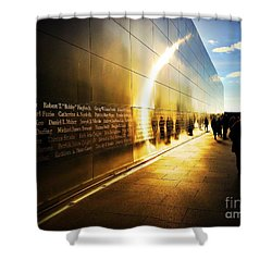 Remembrance At Empty Sky Shower Curtain