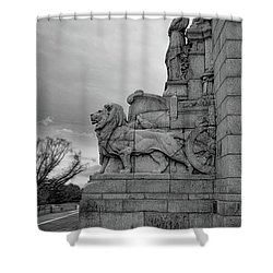 Remembrance Lions Shower Curtain