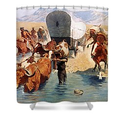 Remington: The Emigrants Shower Curtain by Granger