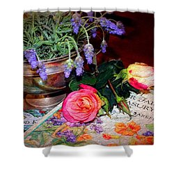 Shower Curtain featuring the photograph Reminiscing by Wallaroo Images