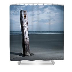 Remnant Of The Past On Outer Banks Shower Curtain