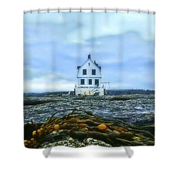 Remnants On The Rocks Shower Curtain