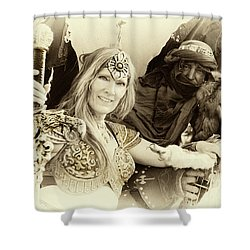 Shower Curtain featuring the photograph Renaissance Festival Barbarians by Bob Christopher