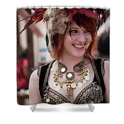 Renaissance Girl Shower Curtain