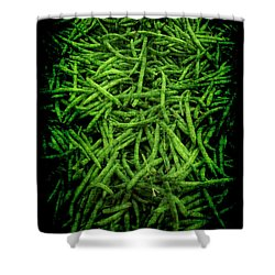 Renaissance Green Beans Shower Curtain