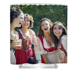 Renaissance Ladies Shower Curtain by Brian Wallace