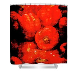 Renaissance Red Peppers Shower Curtain