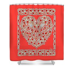 Renaissance Style Heart Shower Curtain