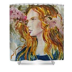 Renaissance Woman Shower Curtain by P Maure Bausch