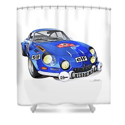 Renault Alpine A110 Shower Curtain by Alain Jamar
