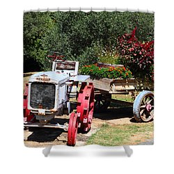 Renault Flower Bed Shower Curtain