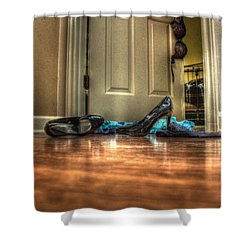 Rendezvous Do Not Disturb 05 Shower Curtain by Andy Lawless