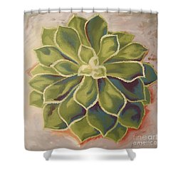 Shower Curtain featuring the painting Renewed by Erin Fickert-Rowland