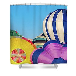Shower Curtain featuring the photograph Reno Balloon Races by Bill Gallagher
