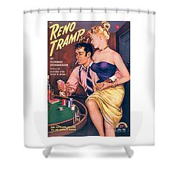 Reno Tramp Shower Curtain by George Gross