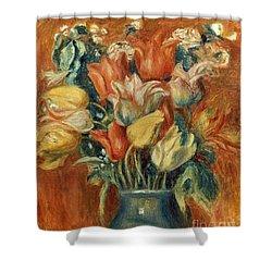 Renoir: Bouquet Of Tulips Shower Curtain by Granger