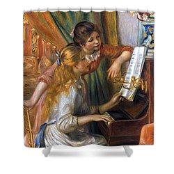 Renoir: Girls/piano, 1892 Shower Curtain by Granger