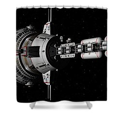 Repairs In Space Shower Curtain