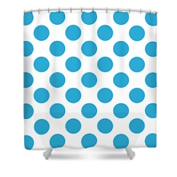 Shower Curtain featuring the digital art Repeating Circle Pattern - Custom Colors by Mark E Tisdale