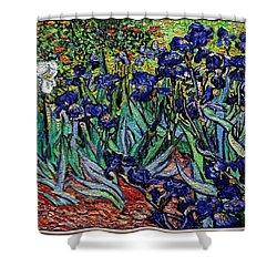 replica of Van Gogh irises Shower Curtain by Pemaro