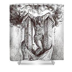 reptilluminatidomination II Shower Curtain by Darwin Leon