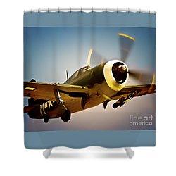 Republic P-47 Thunderbolt Thunder Jug Shower Curtain