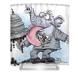 Republicans Lick Congress Shower Curtain