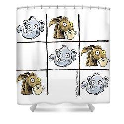 Republicans Win Tic Tac Toe Shower Curtain