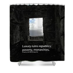 Republics And Monarchies Shower Curtain by Ian  MacDonald