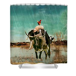 Shower Curtain featuring the photograph Rescue by James Bethanis