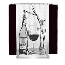 Reserved Table For One In Black And White Shower Curtain