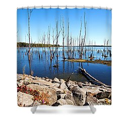 Shower Curtain featuring the photograph Reservoir by Angel Cher