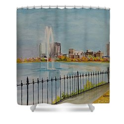 Reservoir In Central Park Shower Curtain