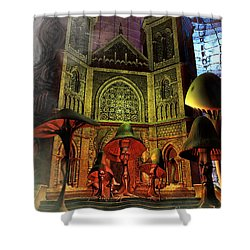 Residence Of The Mushroom Folk Shower Curtain by Jutta Maria Pusl