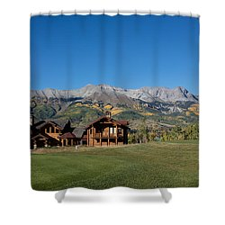Shower Curtain featuring the photograph Residences In Mountain Village -- A Planned Community Adjacent To Telluride by Carol M Highsmith