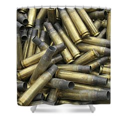 Residual Ammunition Casing Materials Shower Curtain by Stocktrek Images