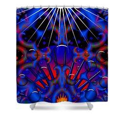 Shower Curtain featuring the digital art Resist by Robert Orinski