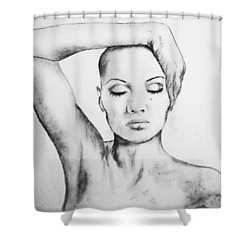Resonate Shower Curtain by Courtney James