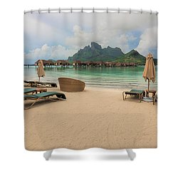 Shower Curtain featuring the photograph Resort Life by Sharon Jones