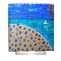 Resort Shower Curtain by Patrick J Murphy