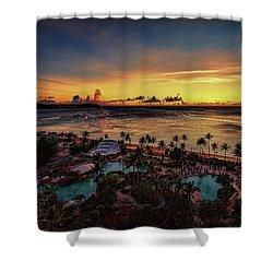Resort Sunset Shower Curtain