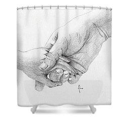 Responsibility Shower Curtain by Annemeet Hasidi- van der Leij