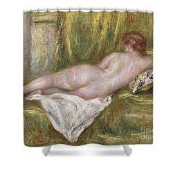 Rest After The Bath Shower Curtain by Pierre Auguste Renoir