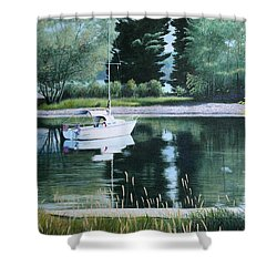 Rest At Pinhey's Point Shower Curtain