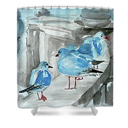 Rest By The Sea Shower Curtain