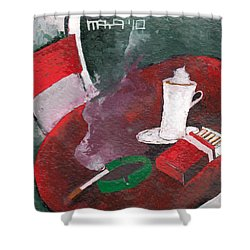 Shower Curtain featuring the painting Rest by Maya Manolova