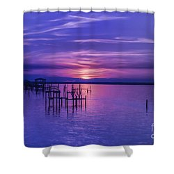 Rest Well World Shower Curtain by Roberta Byram