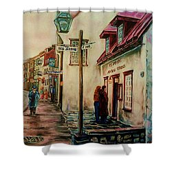 Restaurant Aux Anciens Canadiens Quebec City Shower Curtain by Carole Spandau