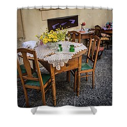Restaurant In Sicily  Shower Curtain