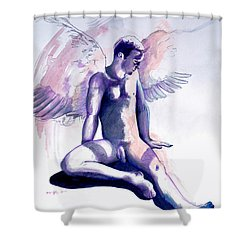 Resting Angel Shower Curtain